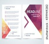 vector modern flyer  poster or... | Shutterstock .eps vector #459949282