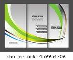 corporate business tri fold... | Shutterstock .eps vector #459954706