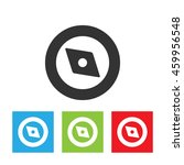 compass icon. simple logo of...