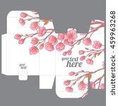 gift wedding favor die box... | Shutterstock .eps vector #459963268
