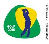 golf icon  rio icon  vector...   Shutterstock .eps vector #459967876