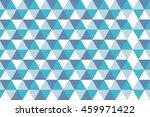 blue tone colors triangle... | Shutterstock . vector #459971422