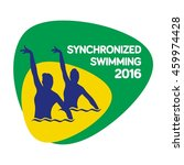 synchronized swimming icon ... | Shutterstock .eps vector #459974428