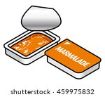 a small plastic pack of orange... | Shutterstock .eps vector #459975832
