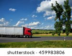 red truck driving on asphalt... | Shutterstock . vector #459983806