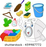 collection of laundry equipment ... | Shutterstock . vector #459987772