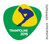trampoline icon  sport icon ... | Shutterstock .eps vector #459995692