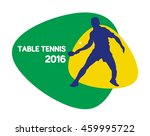 table tennis icon  vector... | Shutterstock .eps vector #459995722