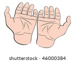 two man hands palms up | Shutterstock .eps vector #46000384