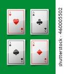 Four Aces. Set Card Aces....