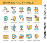 vector icons. banking and... | Shutterstock .eps vector #460023916