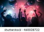 Stock photo young happy people are dancing in club nightlife and disco concept 460028722