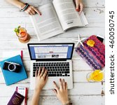 traveling journey holiday plan... | Shutterstock . vector #460050745