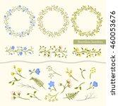 vector set vintage floral... | Shutterstock .eps vector #460053676