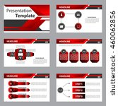 red and black multipurpose... | Shutterstock .eps vector #460062856