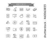 money icons. ui money elements