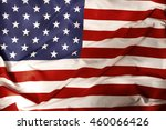closeup of rippled american flag | Shutterstock . vector #460066426