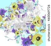 beautiful  watercolor bouquet... | Shutterstock . vector #460069726