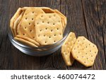 Square Crackers In Glass Bowl...
