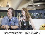 Small photo of SAN DIEGO COMIC CON: July 22, 2016. Critical Role Game Master Matthew Mercer and actor Marisha Ray being interviewed at the LootCrate and GamesRadar booth.