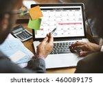 weekly planner schedule memo... | Shutterstock . vector #460089175