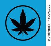 marijuana leaf vector icon.... | Shutterstock .eps vector #460091122