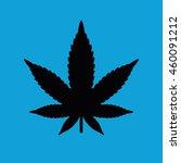 black marijuana leaf vector... | Shutterstock .eps vector #460091212