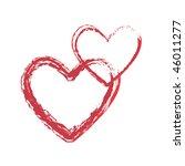 red chalk  hearts   Shutterstock .eps vector #46011277