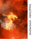abstract red fiery dragon   Shutterstock . vector #460129942