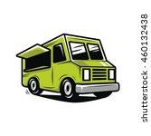 green food truck illustration...   Shutterstock .eps vector #460132438