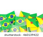 flags of brazil and french... | Shutterstock . vector #460139422