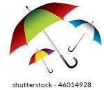 vector illustration of umbrella | Shutterstock .eps vector #46014928