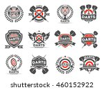 darts tournament or club logo... | Shutterstock .eps vector #460152922