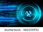 blue eye abstract cyber future... | Shutterstock . vector #460155952