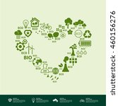 green heart ecology. | Shutterstock .eps vector #460156276