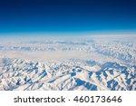 horizon line between the snow...   Shutterstock . vector #460173646