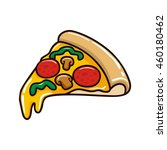 pizza illustration vector