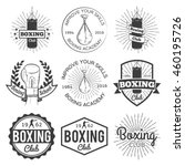 boxing club and martial arts... | Shutterstock .eps vector #460195726