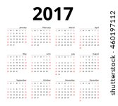 calendar 2017 layout template... | Shutterstock .eps vector #460197112