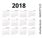 calendar 2018 layout template... | Shutterstock .eps vector #460197115