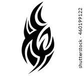tribal tattoos design element.... | Shutterstock .eps vector #460199122