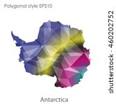 antarctic map in geometric... | Shutterstock .eps vector #460202752