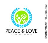 peace logo template  world... | Shutterstock .eps vector #460208752