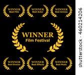 film awards winners laurels set ...   Shutterstock .eps vector #460214206