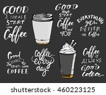 set of motivational quotes... | Shutterstock .eps vector #460223125