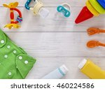 babies goods  cloth diaper ... | Shutterstock . vector #460224586