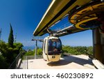 Small photo of ERICE, ITALY - SEPT 12, 2015: Cable Car moving up to Erice, Sicily, Italy.