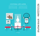 cultural life museum layer set | Shutterstock .eps vector #460231126