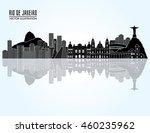 rio de janeiro famous monuments ...   Shutterstock .eps vector #460235962