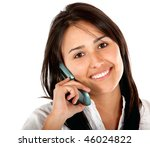 woman talking on the phone... | Shutterstock . vector #46024822